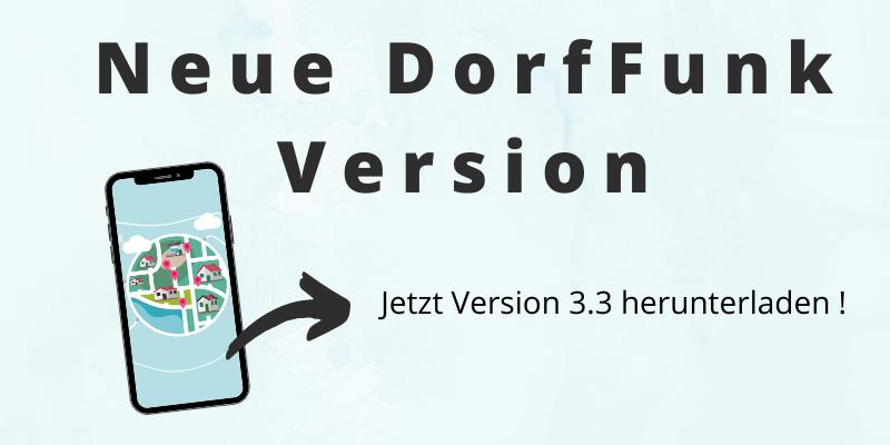 Information über neue DorfFunk Version